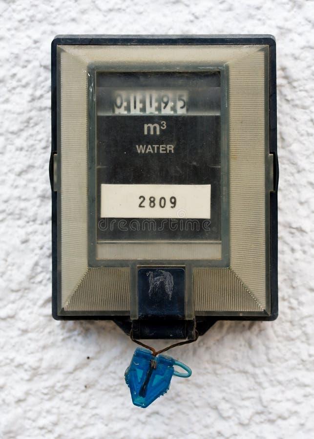 Contador del agua fotos de archivo libres de regalías