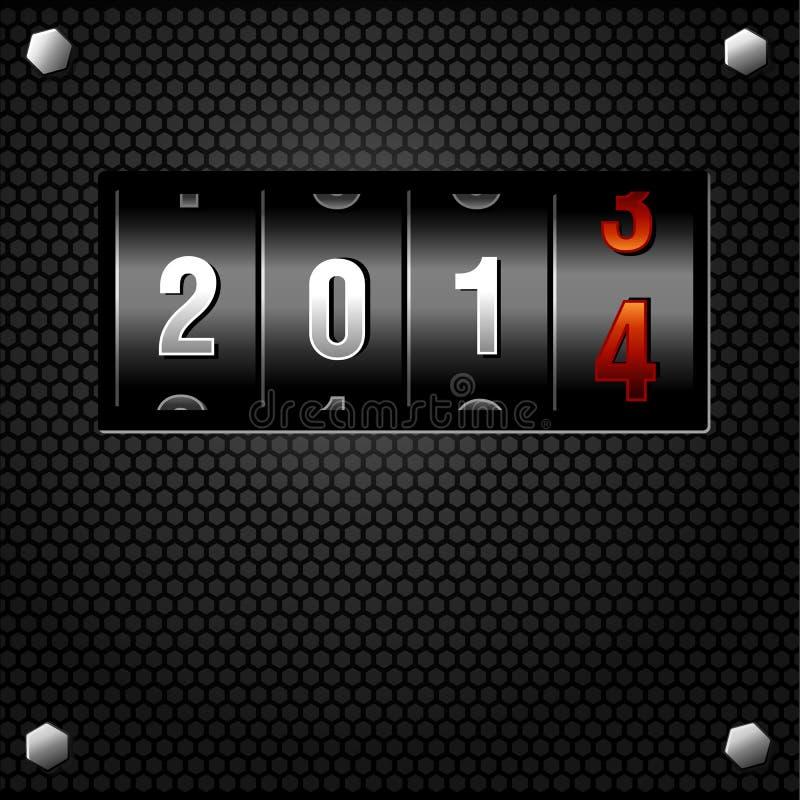 Contador do Analog do ano 2014 novo ilustração do vetor