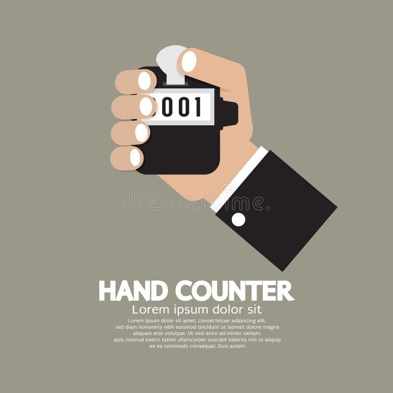 Contador plano de la mano del diseño ilustración del vector