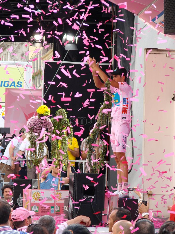 Contador wins the 91st Giro d'Italia stock photo