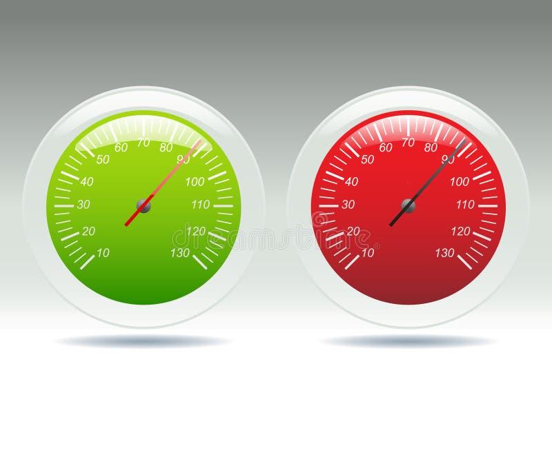 Contadores da velocidade ilustração stock