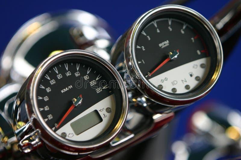 Contadores de velocidad foto de archivo libre de regalías