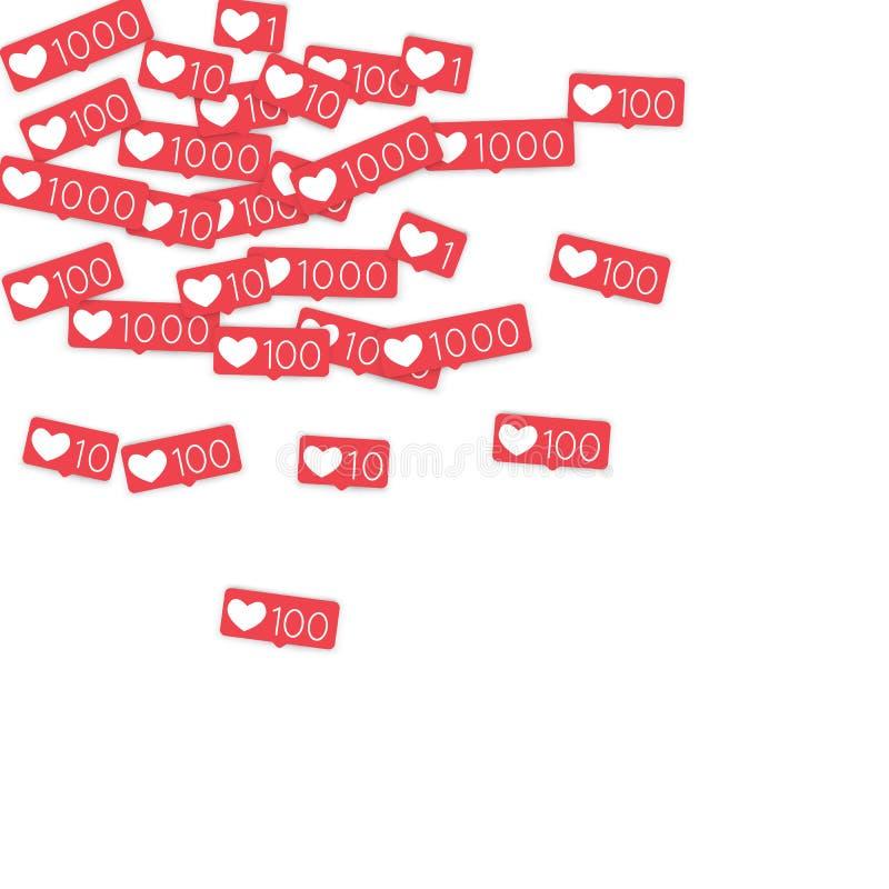 Download Contadores Sociais Dos Meios Ilustração do Vetor - Ilustração de fundo, queda: 107526780