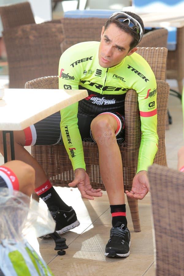 Contadortrek team opleidingskamp in het ontbijt van Mallorca royalty-vrije stock afbeelding