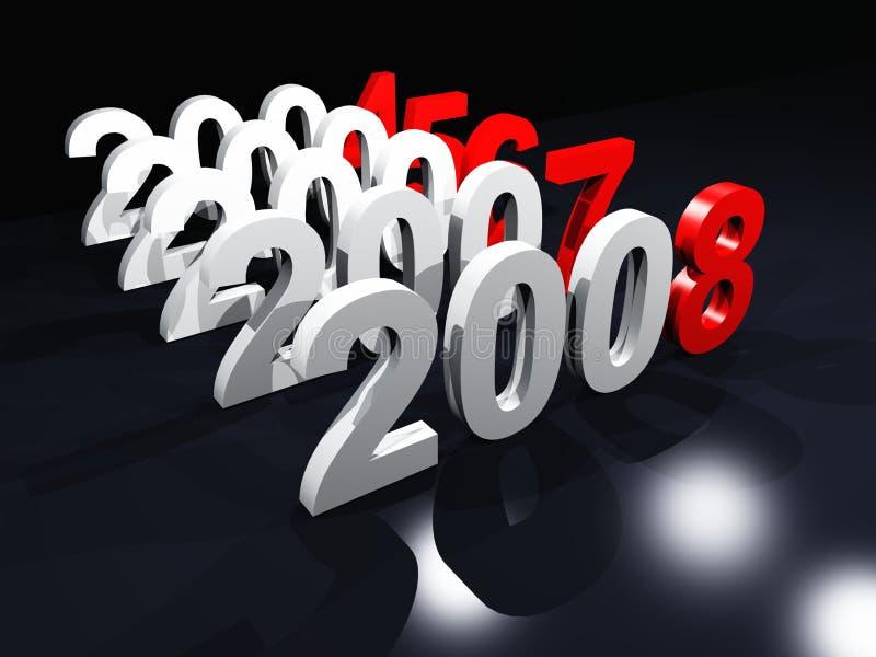Contagem a 2008 ilustração do vetor