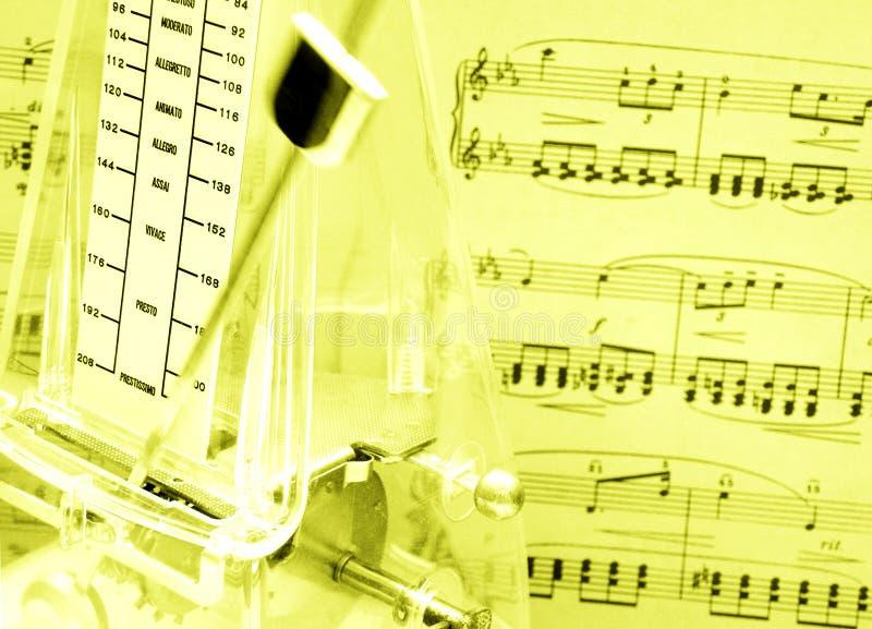 Contagem da música, metrônomo fotografia de stock royalty free