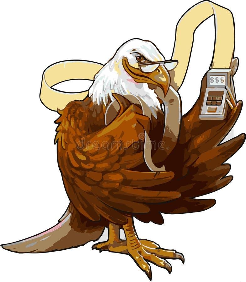 Contagem de Eagle ilustração stock