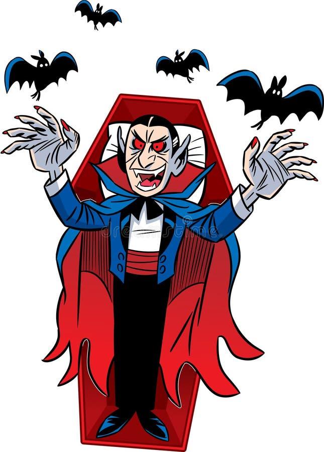 Contagem Dracula. Dia das Bruxas ilustração stock
