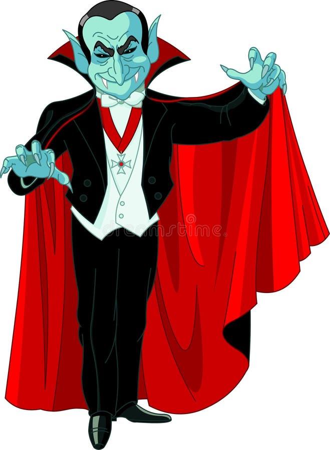 Contagem Dracula dos desenhos animados ilustração royalty free