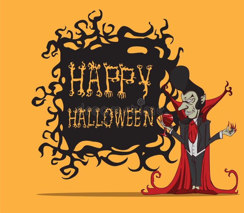 Contagem Dracula dos desenhos animados. Monstro de Dia das Bruxas ilustração do vetor
