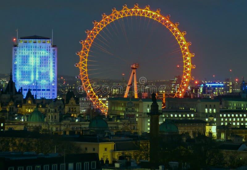 Contagem para baixo ao ano novo Londres 2016 foto de stock royalty free