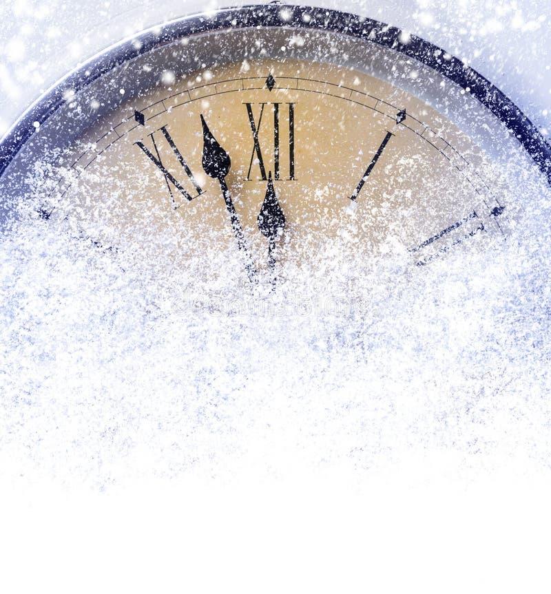 Download Contagem Regressiva à Meia-noite Imagem de Stock - Imagem de clock, snowflake: 80102277