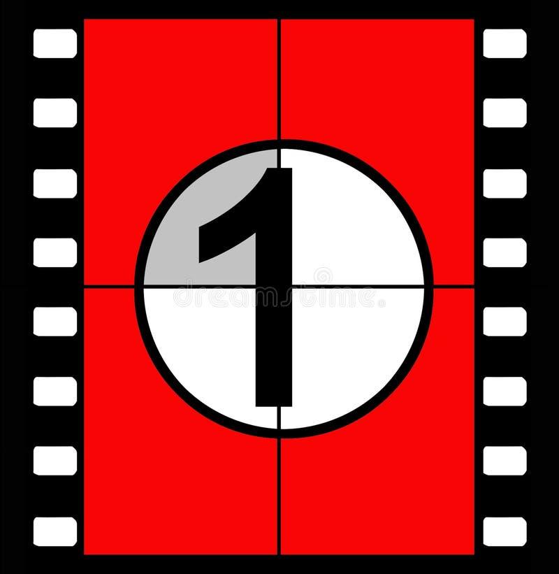 Contagem regressiva da película ilustração do vetor