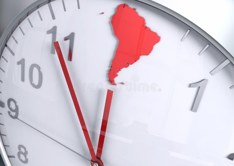 Contagem regressiva do continente de Ámérica do Sul imagem de stock royalty free