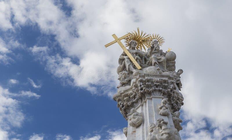 Contagi la colonna, eretta in onore di liberazione dalla peste in Th immagini stock libere da diritti
