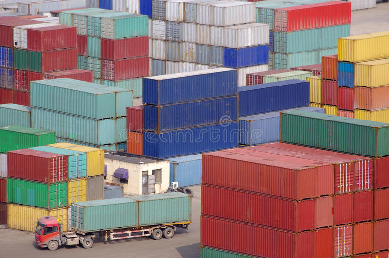 Download Container stock image. Image of stack, docks, jetty, huge - 24307425