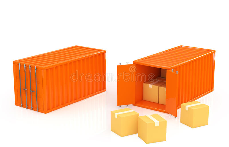 Container stock illustratie