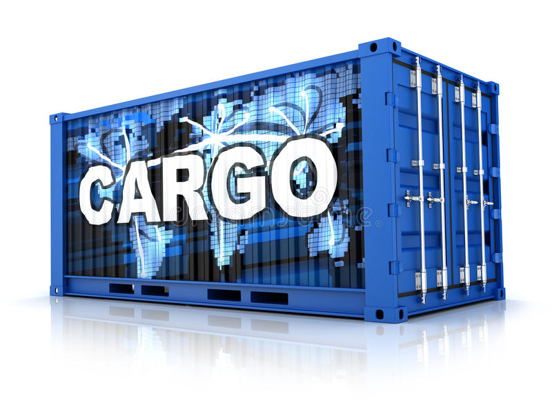 Container royalty-vrije illustratie