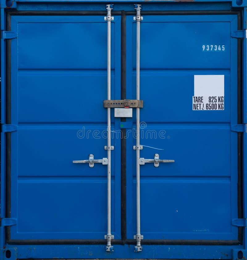 Container blu immagini stock