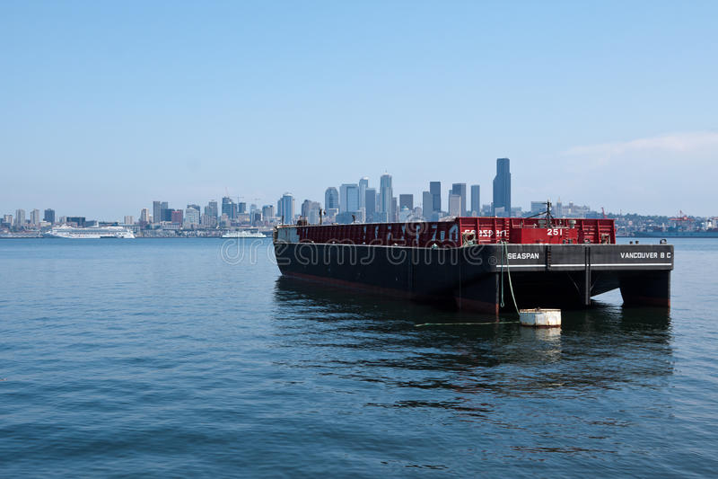Container Boat In Seattle Editorial Photography