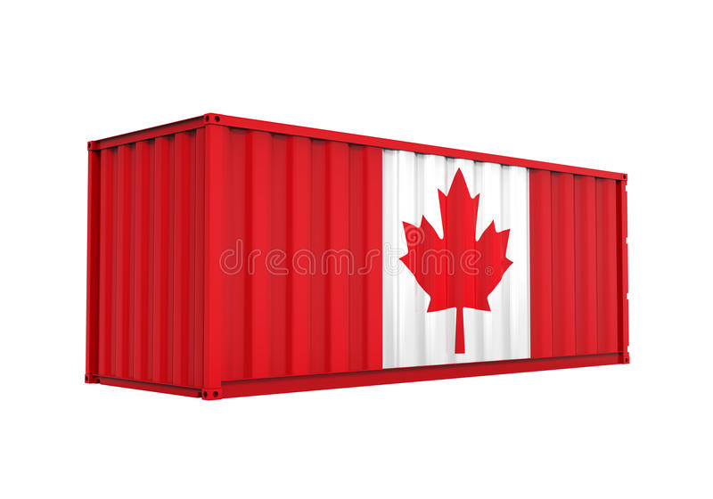Container with Canadian Flag Isolated royalty free illustration