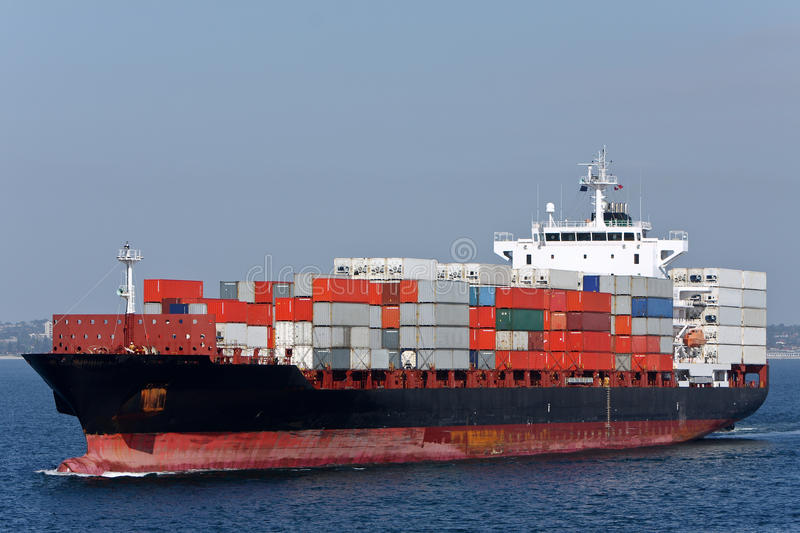 Download Container Cargo Ship At Sea. Stock Image - Image of transportation, industry: 17632485