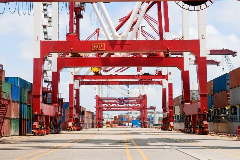 Container Cargo Ship Unloading royalty free stock photos