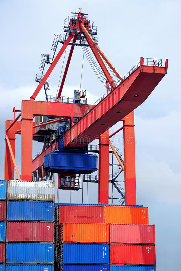 Download Container crane stock photo. Image of trade, industry - 9638754
