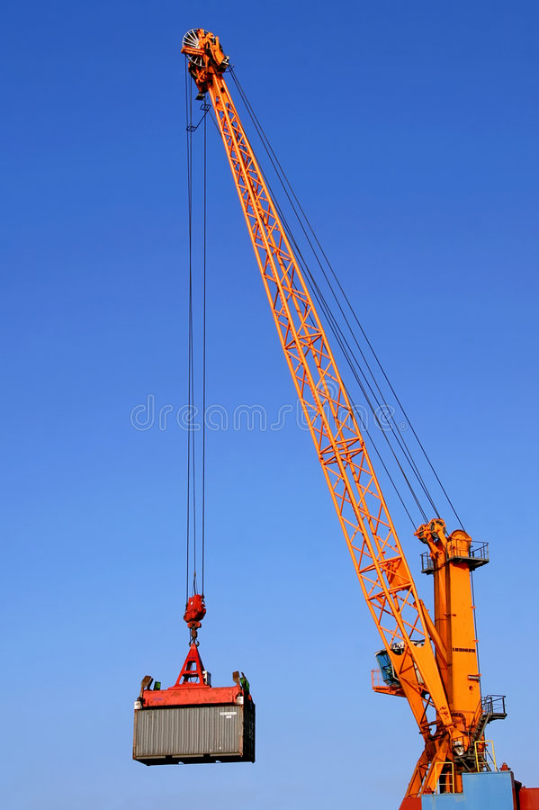 Download Container crane at work stock image. Image of forwarder - 9088151