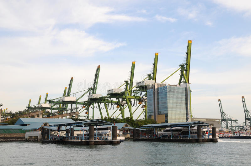 Download Container Cranes stock image. Image of framework, move - 21224893