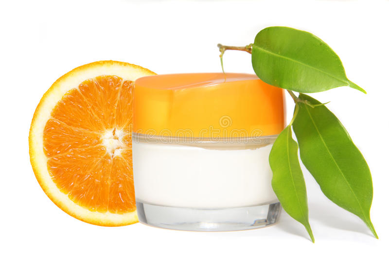 Container Of Cream Stock Photography