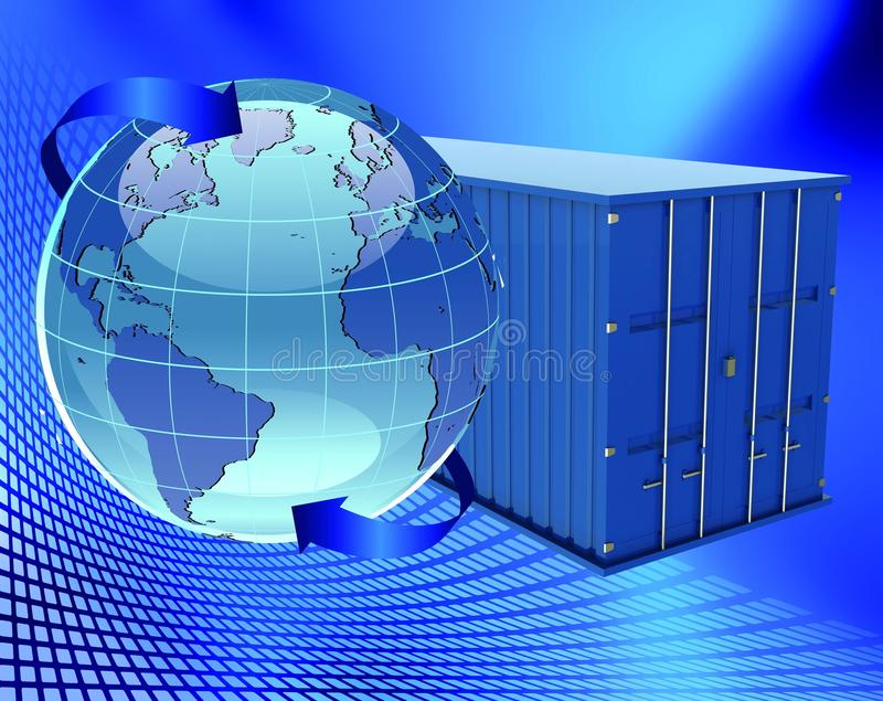 Download Container and earth stock illustration. Illustration of blue - 24153745