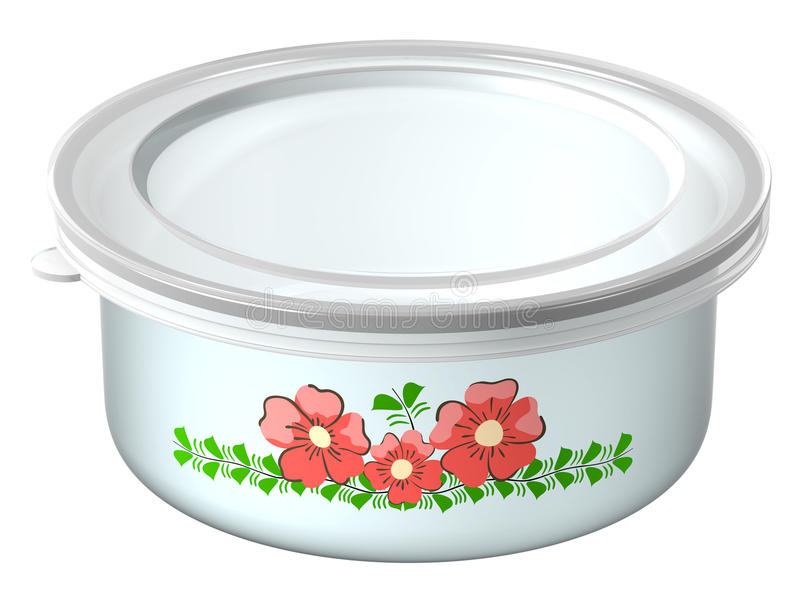 Download The container for foods stock illustration. Image of metal - 18504692