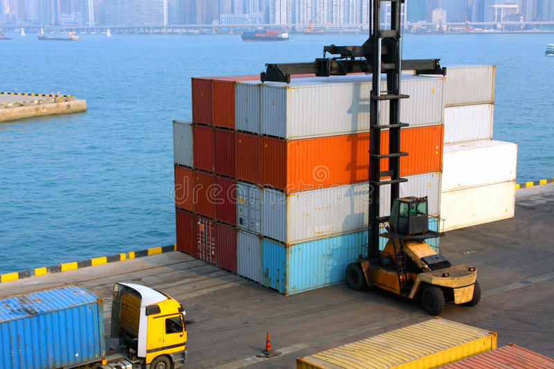 Download Container Forklift Stock Photos - Image: 19529063