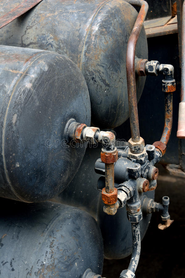 Container Of Gas With Pipe Set In Equipment Royalty Free Stock Photography