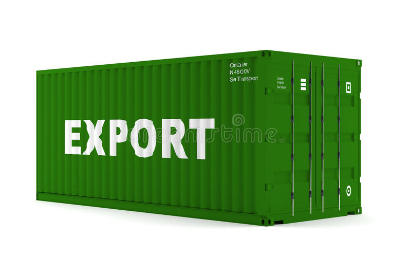 Container. A green container for shipping goods royalty free illustration