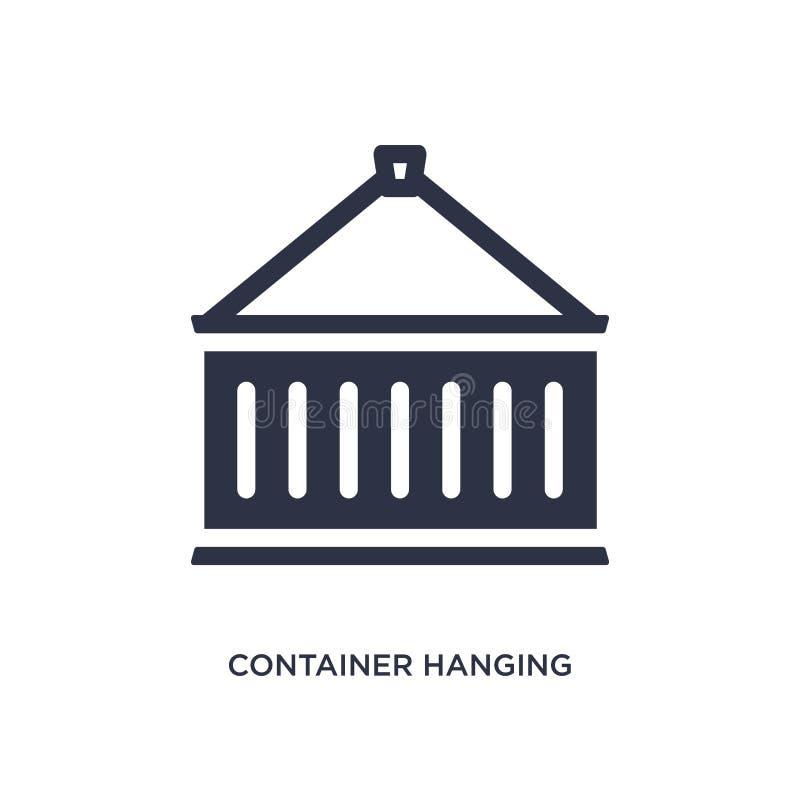 container hangend pictogram op witte achtergrond Eenvoudige elementenillustratie van levering en logistiekconcept vector illustratie