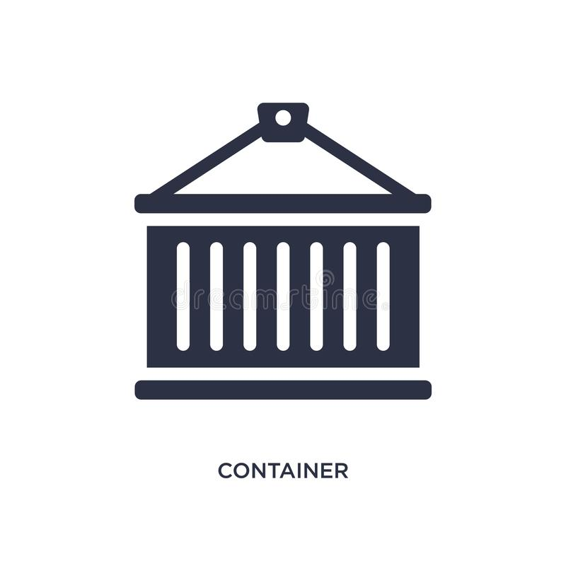 container icon on white background. Simple element illustration from delivery and logistic concept stock illustration