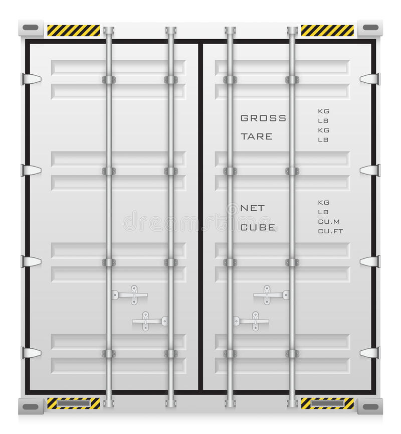 Container. Illustration of cargo container isolated on white background stock illustration