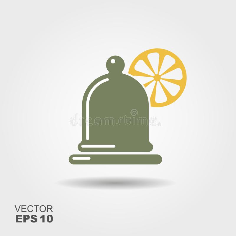 A container for a lemon vector illustration