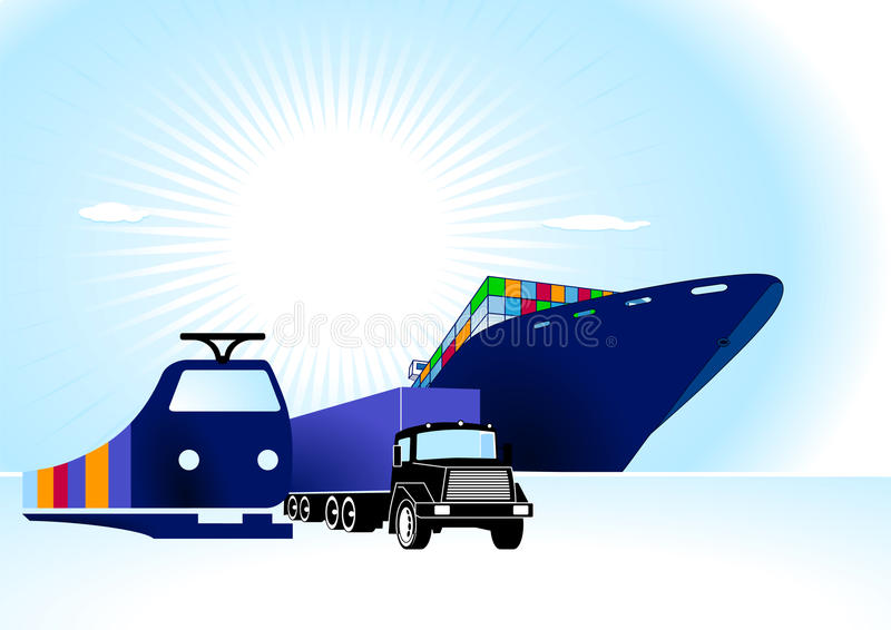 Download Container Logistic stock vector. Illustration of shipper - 16061572
