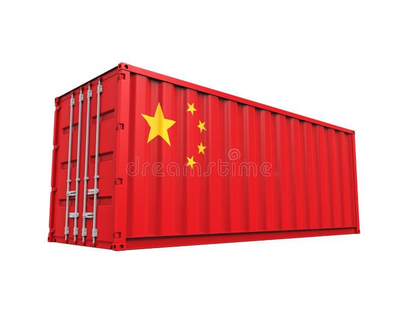 Container met de Vlag van China vector illustratie