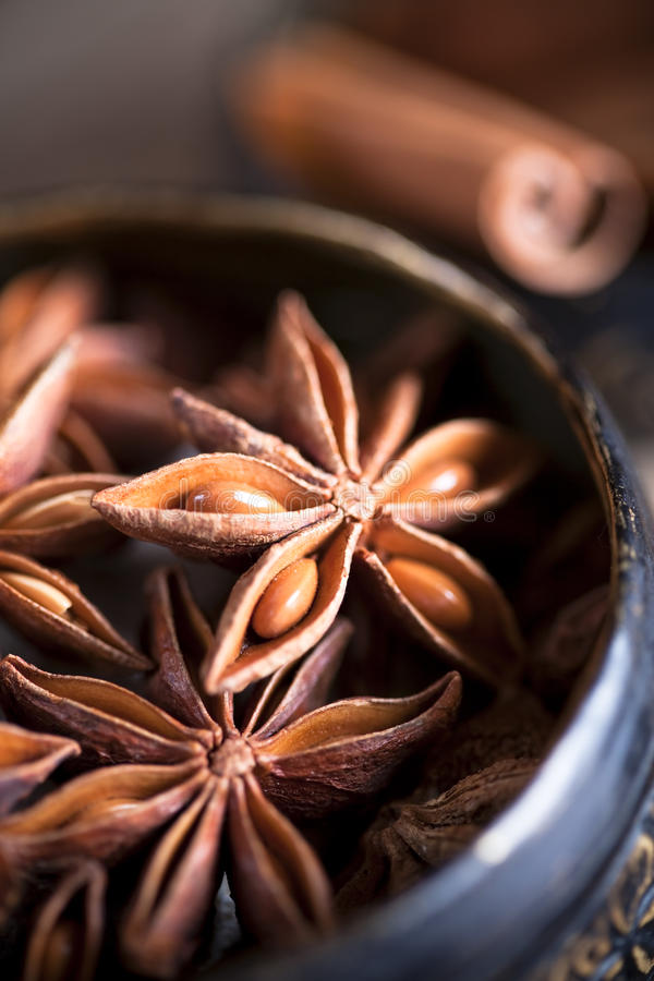 Free Container Of Star Anise Stock Image - 17075951