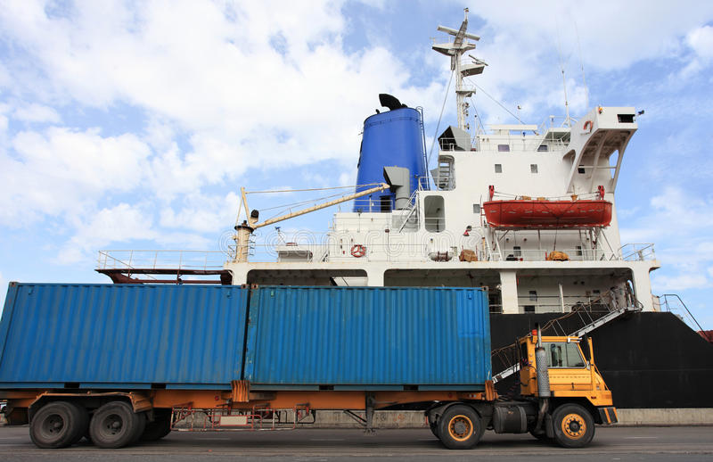Download Container Operation In Port Stock Image - Image: 26634997