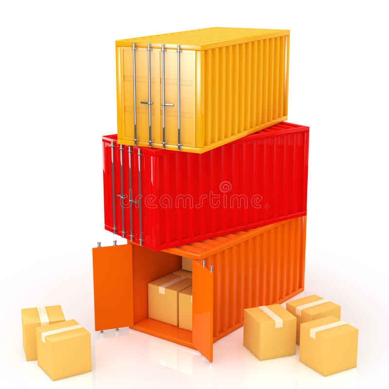 Download Container stock illustration. Illustration of industrial - 33253876