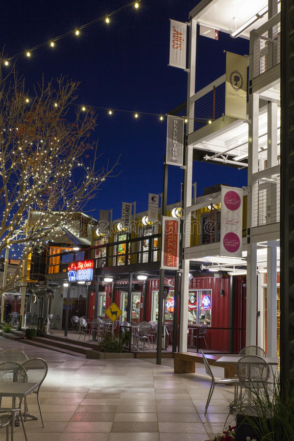 Download Container Park At Night In Las Vegas, NV On December 10, 2013 Editorial Photo - Image: 36481641