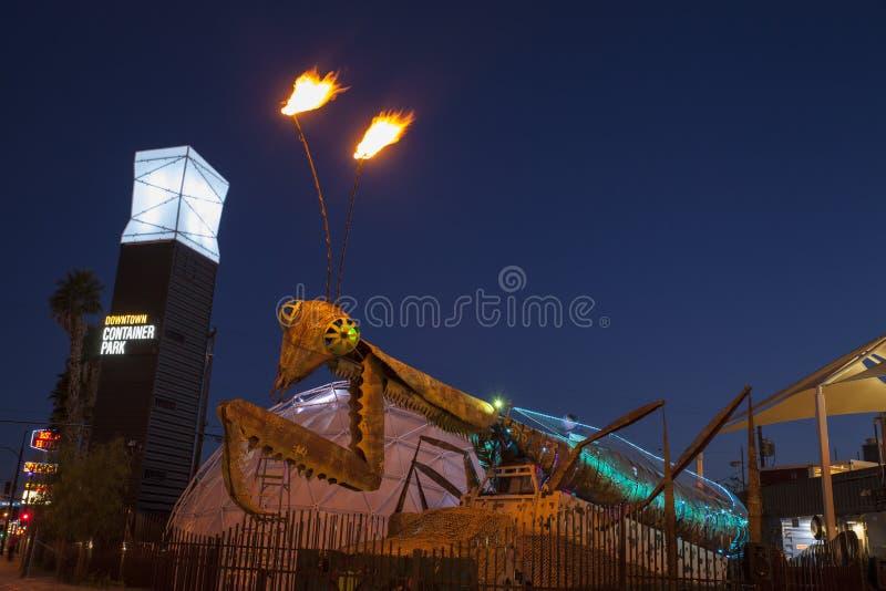 Download Container Park Praying Mantis In Las Vegas, NV On December 10, 2 Editorial Stock Image - Image: 36481604