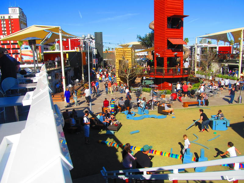 Container Park's Children royalty free stock images