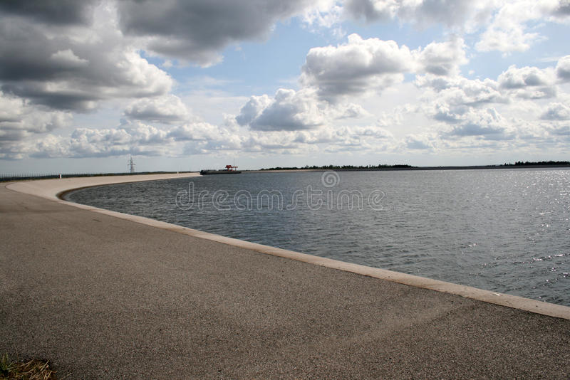 Container plants. Body of water used during the production of electricity - power pumped - storage royalty free stock photography