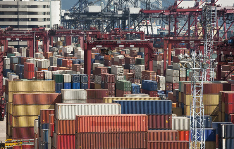 Download Container Port stock photo. Image of commercial, industry - 25601288